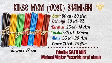 Şamlar - Azərbaycan: Kilse Mum (Voskovoy) Shamlari eldeqiymetler wekilin ustunde ED