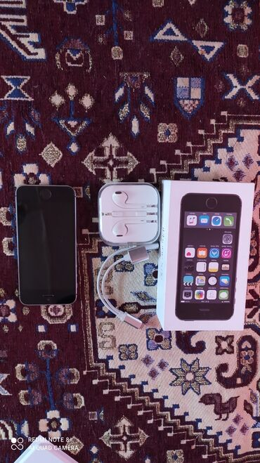 Электроника - Кочкор: IPhone 5s   16 ГБ   Черный (Jet Black) Б/У   Гарантия, Отпечаток пальца, С документами