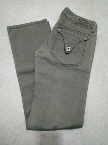 Farmerke xs - Srbija: Ženske pantalone/farmerke,maslinastozelene boje,veličina xs/32. Nošene