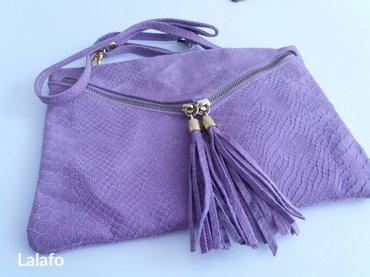 Kozna torbica.. Violet... Made in italy.. - Cacak