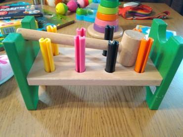 деревянные игрушки икеа в Кыргызстан: Деревянная стучалка икея