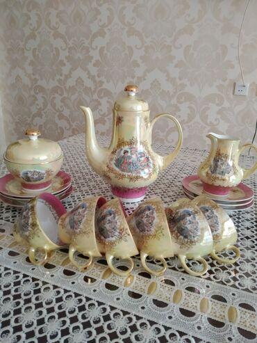 Kofe dəsti təzədi işlənməyib 50 ilin malıdır qiyməti 200 azn