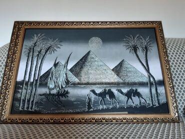 Декор для дома - Кара-Балта: Египетские шикарные новые картинки. Фосфор.Блески.Рамка(стекло). Длина