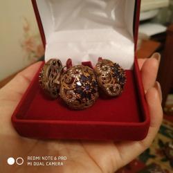 серебряный комплект с красными камнями в Кыргызстан: Очень красивый комплект серебро (Хюрем называется) привезён из Турции