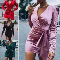 Crvena satenska haljina - Srbija: Saten haljina NOVO!*Nova Kolekcija *Dostupne boje :crna, roze, zelena