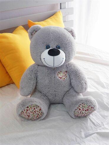 Игрушки - Лебединовка: Мягкая игрушка большой плюшевый медведь Мишка Тони + Панда с сердцем