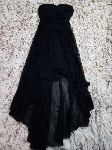 Haljine - Odzaci: Prelepa crna haljina Tally Weijl, napred je kratka, a pozadi duga. U