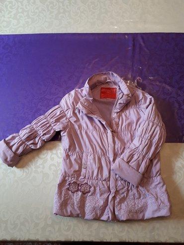 Детская деми куртка, внутри флис. На  4-6 лет. в Бишкек