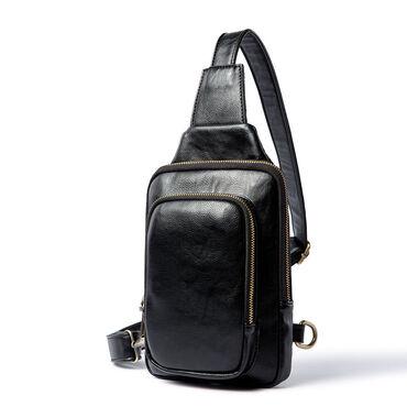 чёрная-сумка в Кыргызстан: Мужские кожаные сумки. Стиль Vintage Доставка по Бишкеку бесплатная