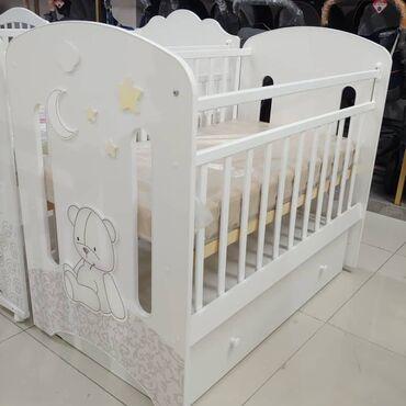 бу детские кроватки в Кыргызстан: Детская кроватка с ящичком маятником Новинка в разных расцветках Для