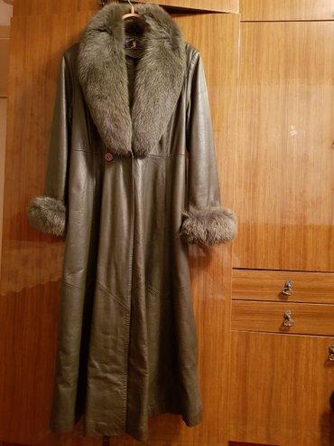 Пальто натуральная кожа, состояние отличное. размер 50-52 в Бишкек