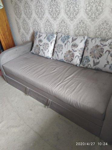 Диваны - Кыргызстан: Продаю диван кровать. Состояние среднее. Имеются пятна.Требуется