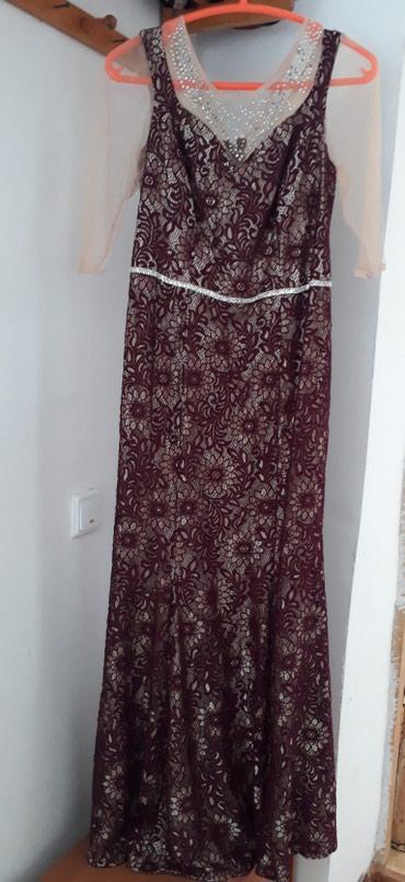 красное длинное платье в пол в Кыргызстан: Гипюровое платье, длина в пол. Цвет марсала, один раз всего надела