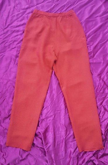 Pantalone struk elastina - Srbija: Lanene pantalone, vel. XS/S, visok struk. Nema oznacenu veličinu, ali