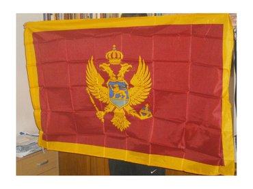 Zastava Crne gore, dimenzija 145x90cm, nova, upakovana. Sa strane ima - Beograd