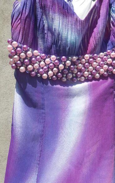 Сокулук Платье летящее воздушное. Размер s-m Шифон с подкладом, не
