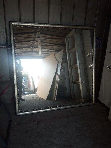 зеркало в комнате в Кыргызстан: Зеркало в рамке на стену. длина 165 см, ширина 165 см
