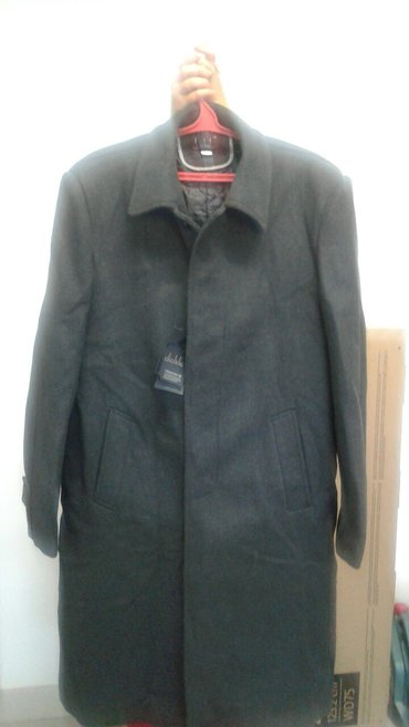 новое пальто подойдет на ( той или на кийит) 52 размера, серого цвета в Бишкек