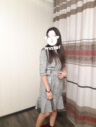 шерстяное платье в клетку в Кыргызстан: Платье в клетку,новое,размер 44