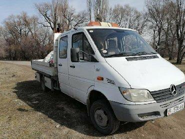 mercedes шестисотый в Кыргызстан: Mercedes-Benz Sprinter 413Двойная кабина, стрела грузоподъёмностью до