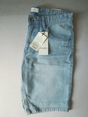Mango - Srbija: Muske kratke pantalone, svetlo plave, marka manguun, velicina 31