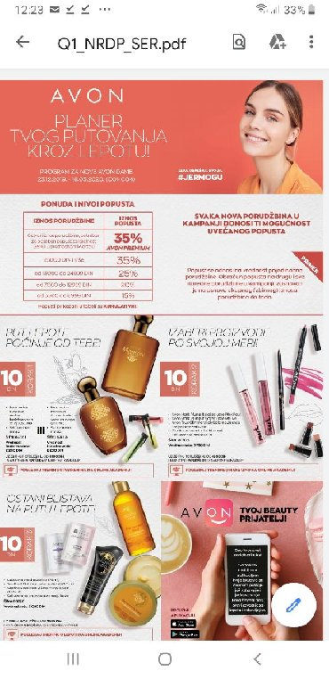 307 oglasa | ZAPOSLENJE: *** potrebni saradnici za katalosku prodaju avon kozmetike ***