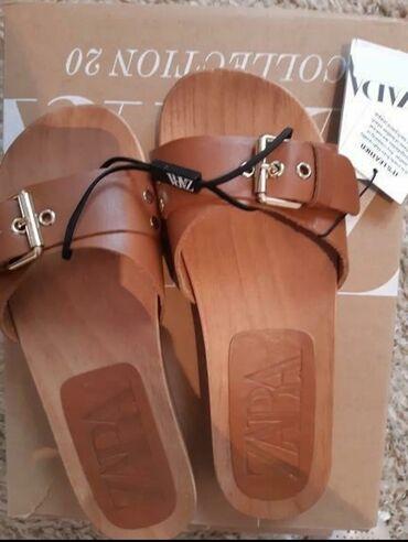 Zara kožne papuče sa etiketom 37