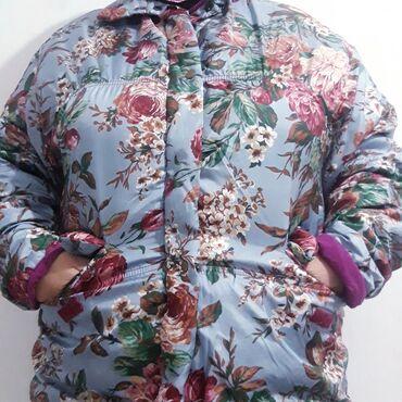 вечерние платья для полных женщин за 50 в Кыргызстан: Отличная теплая куртка 50 размера  цена 900 сом есть торг