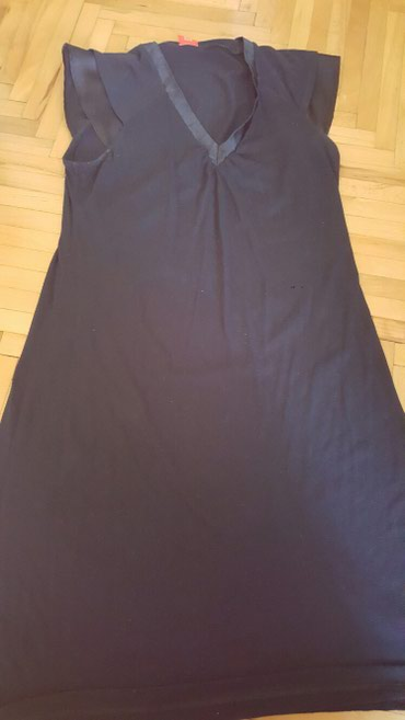 Teget haljina sa satenskim delom oko vrata. vel xl - Pozarevac