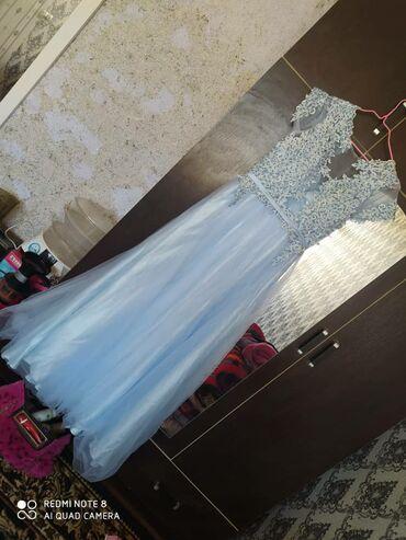 вечернее платье 44 размер в Кыргызстан: Продам платье одевалась 1 раз на свадьбу покупала за 6000 отдам за