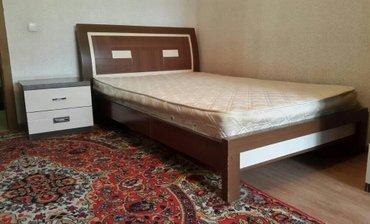 Продаю кровать-полуторку(длина 2 метра) с матрасом lina и тумбочкой. в Бишкек