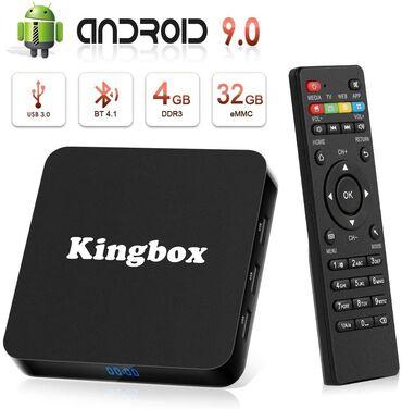 android tv box - Azərbaycan: Tv box android smart tv box tuneroriginal King box 4k 4/32gb android