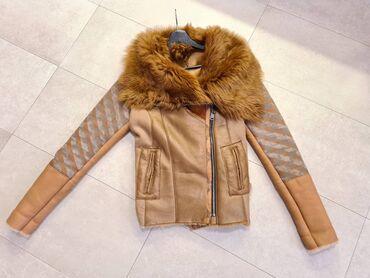 Prava koza jaknica konfekcijskom broju - Srbija: DIVAX BY IVA - ORIGINAL MONTON JAKNA, NOVAJakna je kupljena prosle