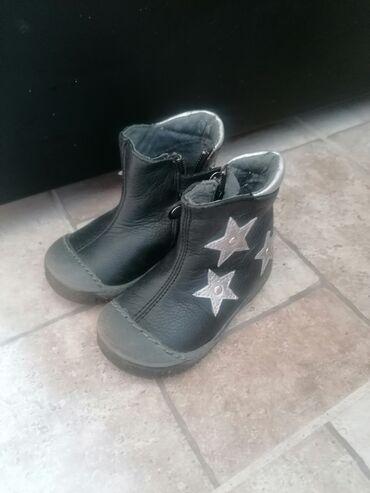 Bez cipele - Srbija: Decije kozne cizme, br 20, obuvene nekoliko puta, bez ostecenja