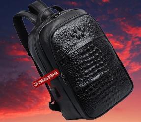 сумку школьную в Кыргызстан: Мужской кожаный рюкзак из натуральной кожи +БЕСПЛАТНАЯ ДОСТАВКА ПО КР