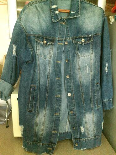 Куртка джинсовая женская 48 размер состояние нового!