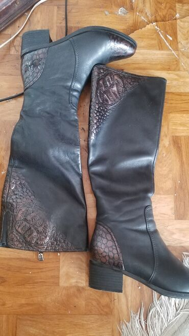 Сапоги ( POSIOT) кожа зима,размер 36,каблучок 4см,состояние