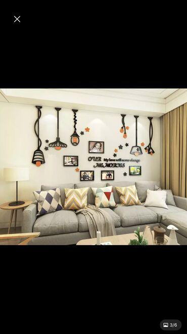 Акриловый глянцевый 3D декор на стену размер 350см на 224см, высшее