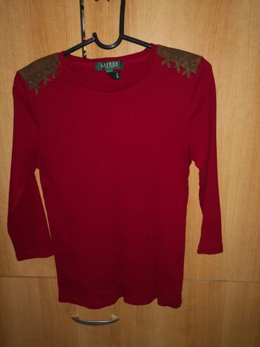 Ralph lauren - Srbija: Majica original Ralph Lauren, velicina s-m, pamucna rebrasti, bordo
