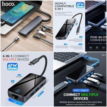 ucuz laptop fiyatları - Azərbaycan: Hdmi 4k hub xab type-c adapter perexadnik original hoco firmasindan