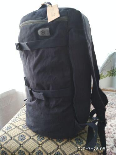 Рюкзак мешок, сумка. 3в одном.цвет серый. материал джинсов