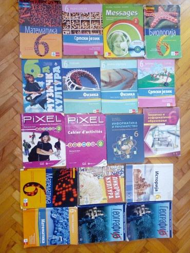 Knjige za 6 razred izuzetno očuvane. Dostava lično Beograd ili brza - Belgrade