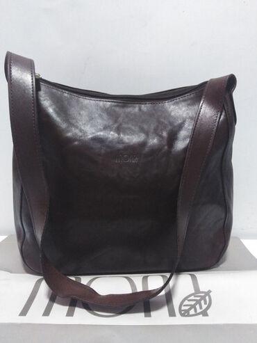 Braon deblji saten - Srbija: MONA kožna veća torba,prirodna fina kvalitetna 100%koža,ima kožni duži