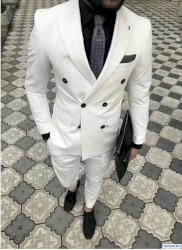 Длинная белая футболка мужская - Кыргызстан: Костюмы M