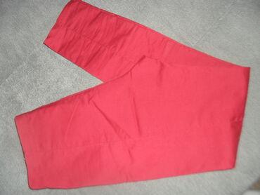 NOVE crveno-bordo duboke MPrelepe pantalonekopčanje sa stranedublji