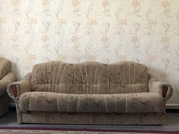 Мебель - Кыргызстан: Большой диван, 2 кресла (комплект) . Большой диван не раскладывается(
