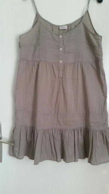 Prelepa haljinica kremaste boje velicina 38. Pamucna i lagana,kupljena - Pirot