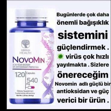 Vitaminlər və BAƏ - Salyan: NOVAMİNVitamin kompleksi(A,C,E)Bioloji aktiv kompleks üç həyatı vacib