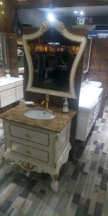 стиль прованс мебель в Азербайджан: Мебель для ванной комнаты. В классическом стиле. Ширина 80 см.