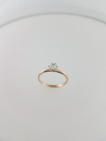 Кольцо из красного золота 585проба Вставка циркон Размер кольца 16.5 в Бишкек